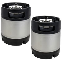 1.75 Gallon Ball Lock Keg - Rubber Handle - Set of 2