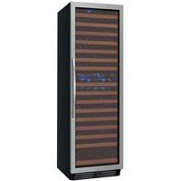 FlexCount Classic Series 172 Bottle Dual Zone Wine Refrigerator - Right Hinge Stainless Steel Door