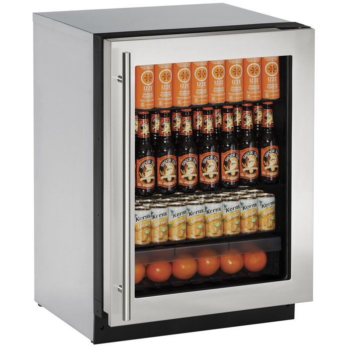 ... Stainless Steel Glass Door. Model:2224RGLS 00B. U Line 2224RGLS 00B  Refrigerator