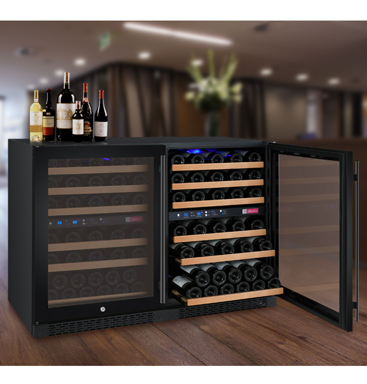 integrated built under dual zone wine cooler edgestar 110 bo