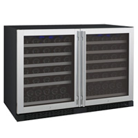 FlexCount Series 112 Bottle Dual-Zone Wine Refrigerator - Side by Side