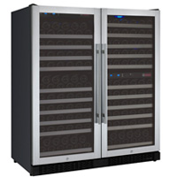 FlexCount Series 249 Bottle Three Zone Wine Refrigerator - Side by Side