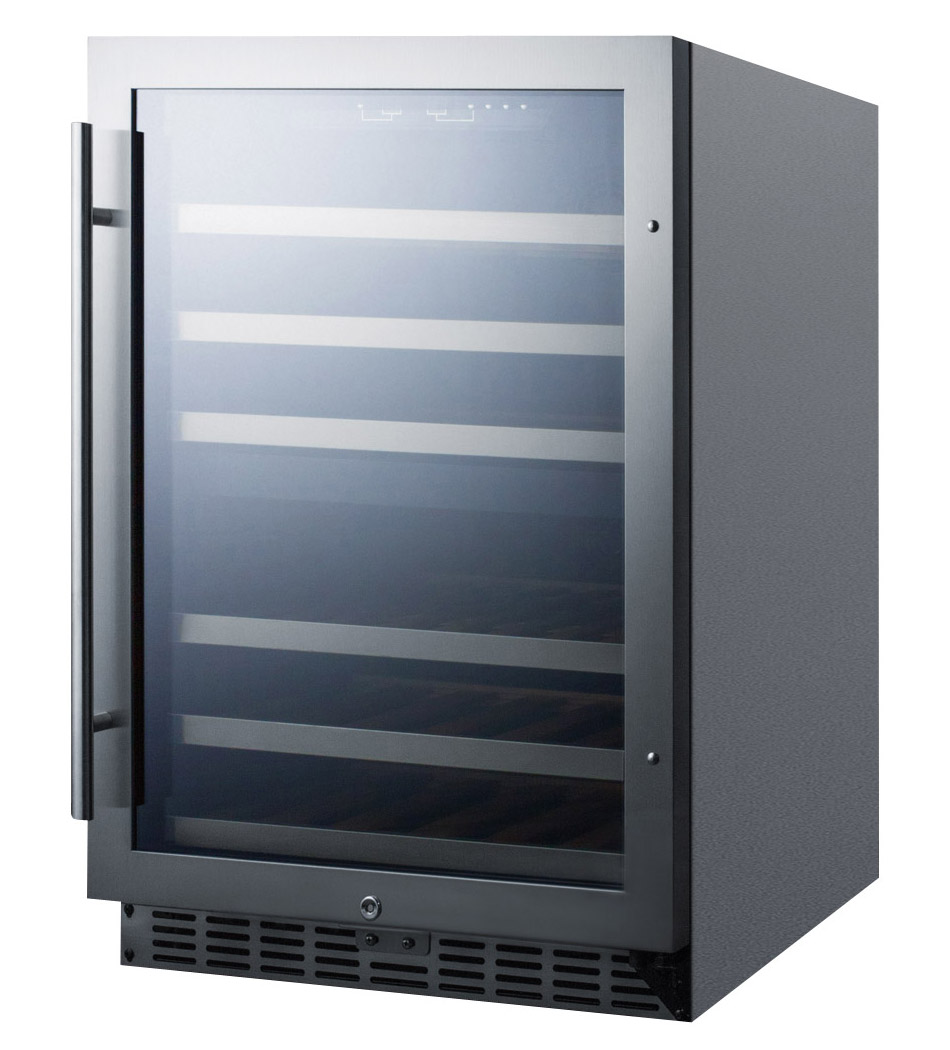 bottle built in dualzone wine cooler stainless steel cabinet  - bottle builtin dual zone wine cellar  stainless steel