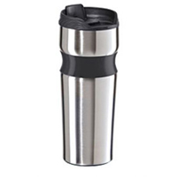 Lustre Contour Stainless Steel Travel Mug