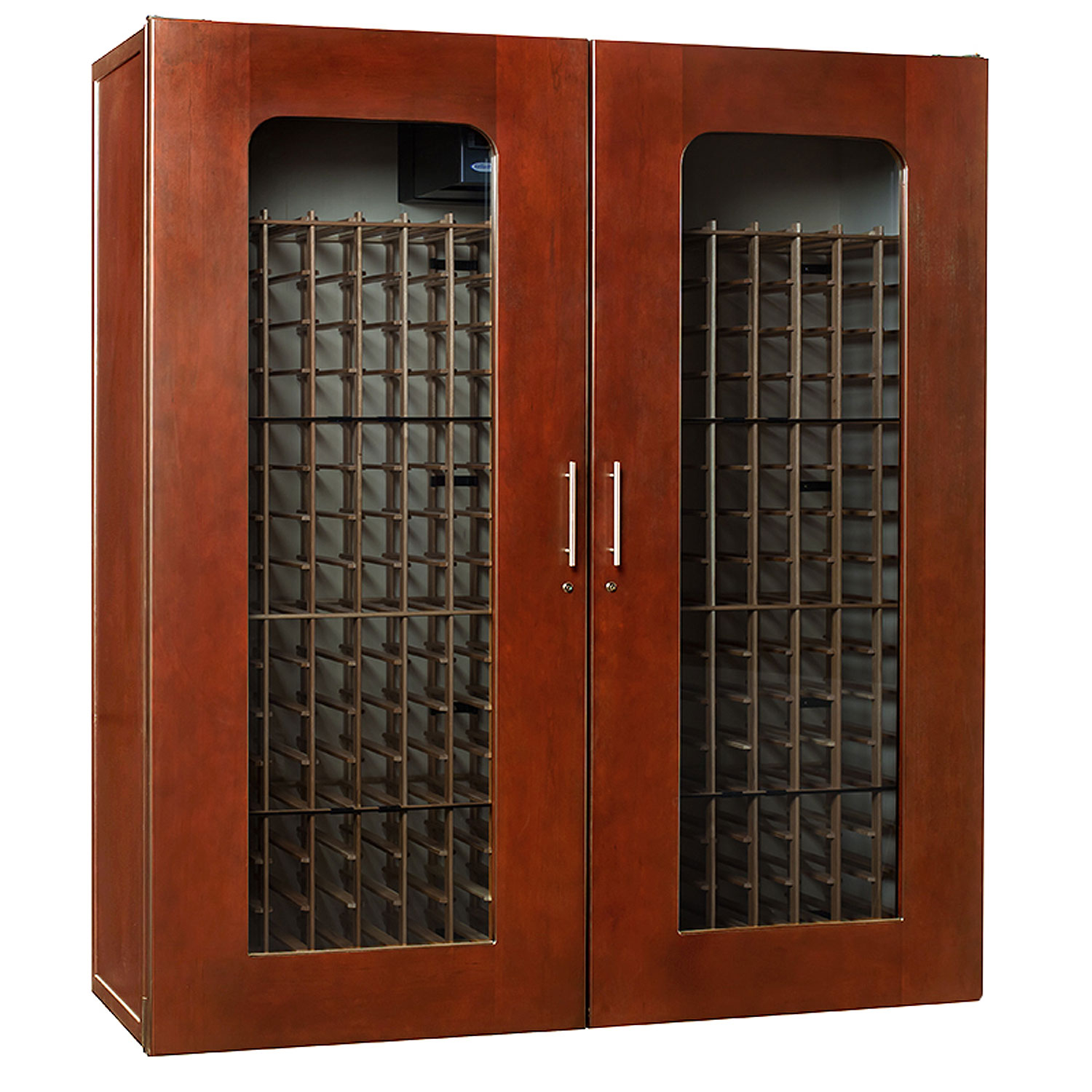 le cache 5200 premium wine cellar cabinet classic cherry finish. Black Bedroom Furniture Sets. Home Design Ideas