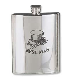 Photo of Best Man 6oz Hip Flask