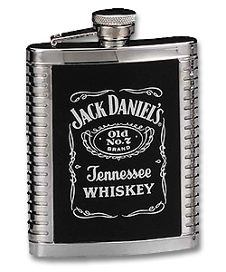 Photo of Jack Daniel's Stainless Steel Ribbed Flask - 6 oz.