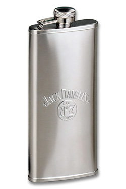 Photo of Jack Daniel's 5 Ounce Stainless Steel Satin Boot Flask- 5 oz.