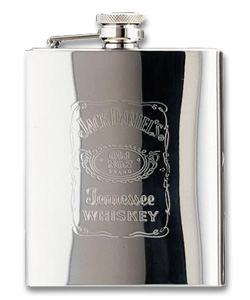 Photo of Jack Daniel's Stainless Steel Hip Flask - 7 oz.