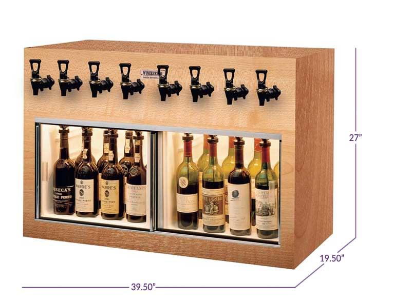 Winekeeper 4x4 O2rm 7774 Monterey 8 Bottle Wine