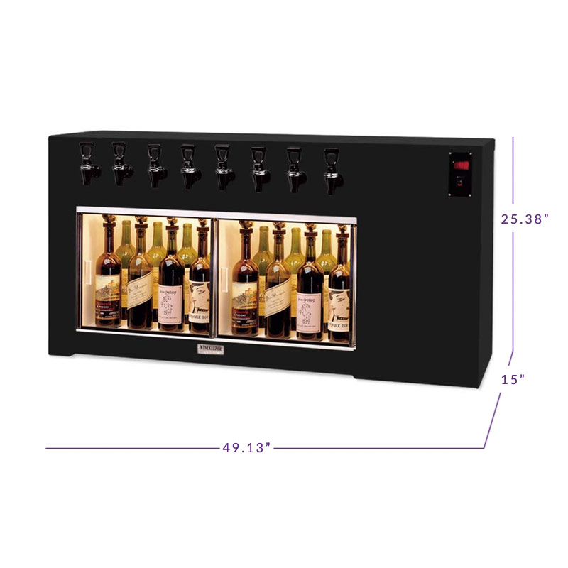 Winekeeper 8001 The Magnum 8 Lr 8 Bottle Wine Dispenser
