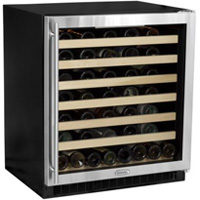68-Bottle Digital Wine Cellar - Black Cabinet and Stainless Steel Frame Glass Door