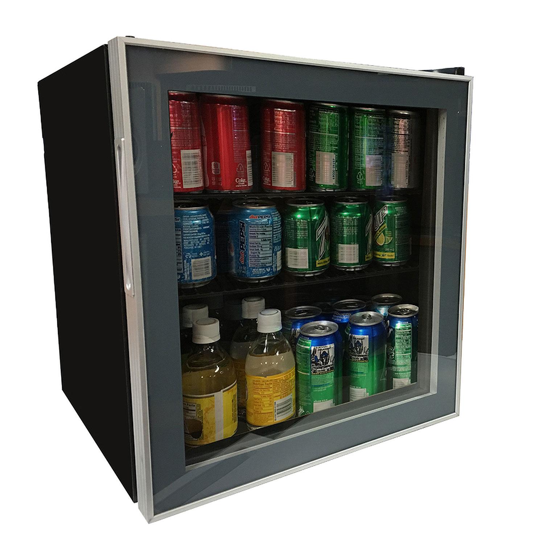 1.7 Cu. Ft. Beverage Cooler   Black Cabinet And Platinum Trim Glass Door Part 87
