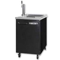 Built In Club Top Commercial Beer Cooler - Black Vinyl