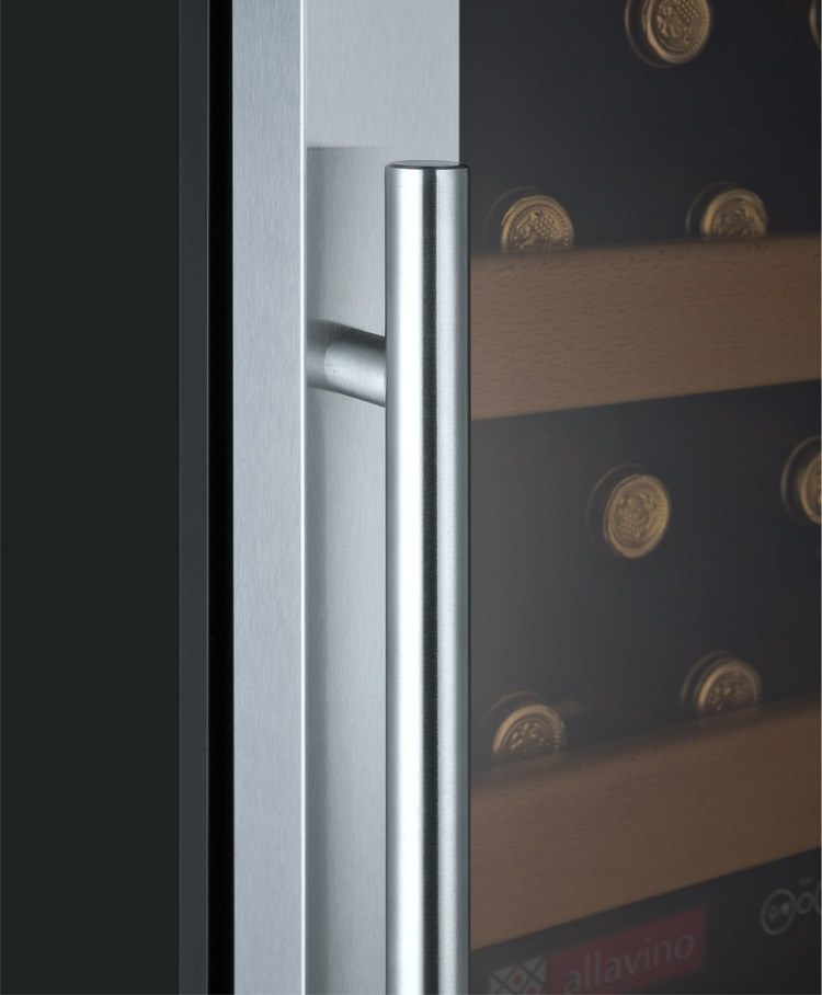 Allavino vite series yhwr99 2srn 99 bottle dual zone wine cellar refrigerator black cabinet - Cellar door hinges ...