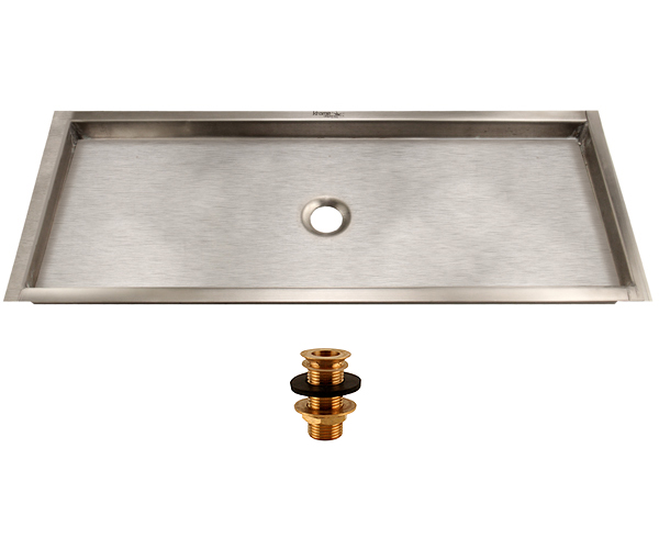 Drip tray with drain