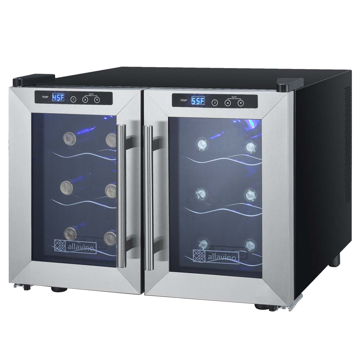 Beautiful 12 Bottle Wine Fridge Part - 1: Cascina Series Thermoelectric 12 Bottle Dual Zone Wine Refrigerator