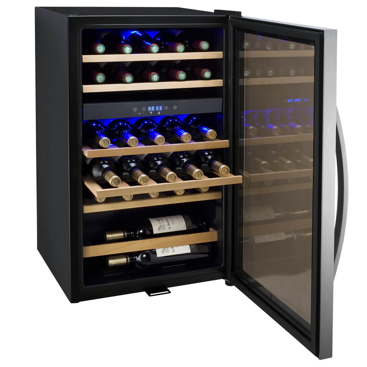 allavino cdwrswt cascina series  bottle dual zone wine  - cdwrswt open