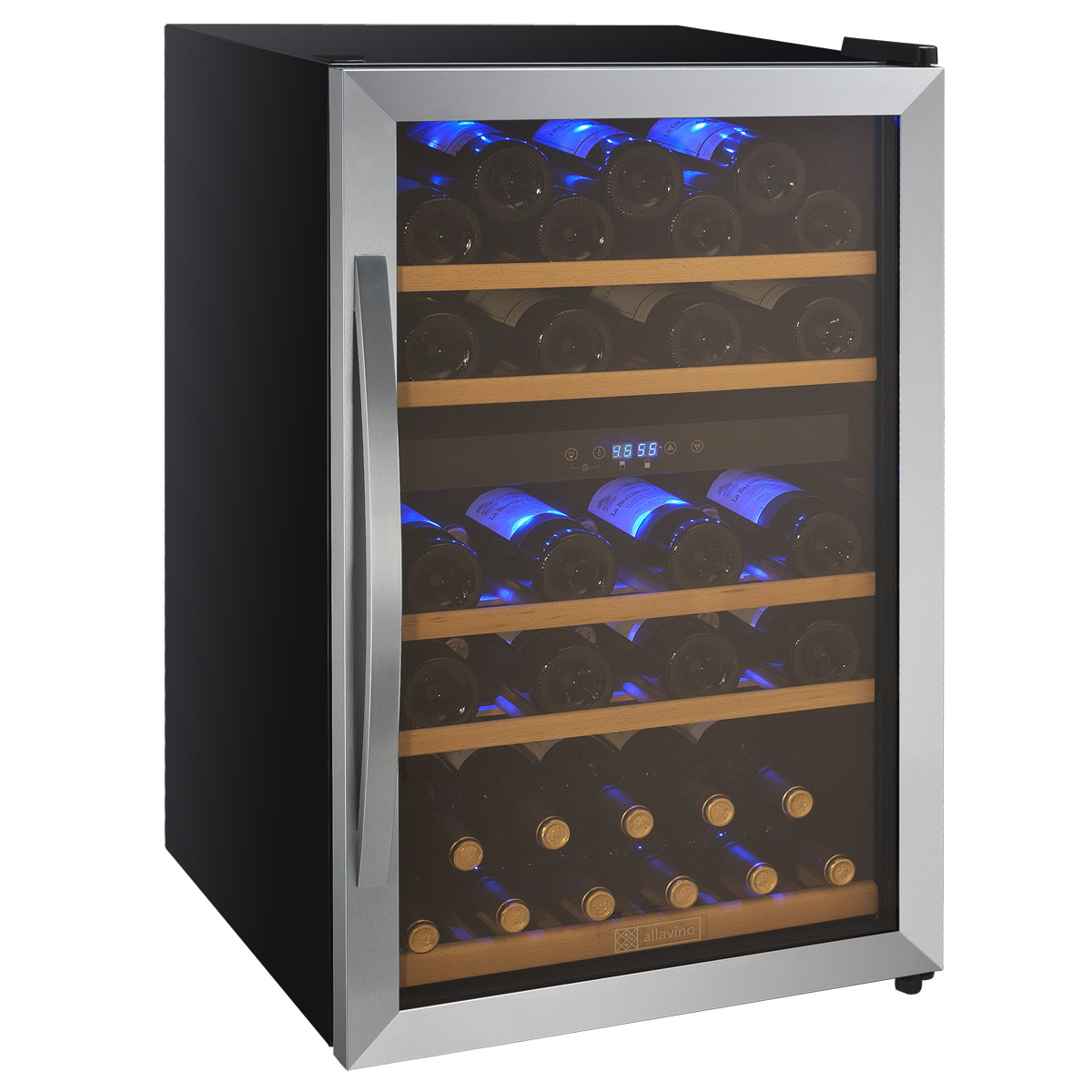 Wine Bottle Storage Angle Allavino Cdwr44 2swt Cascina Series 44 Bottle Dual Zone Wine
