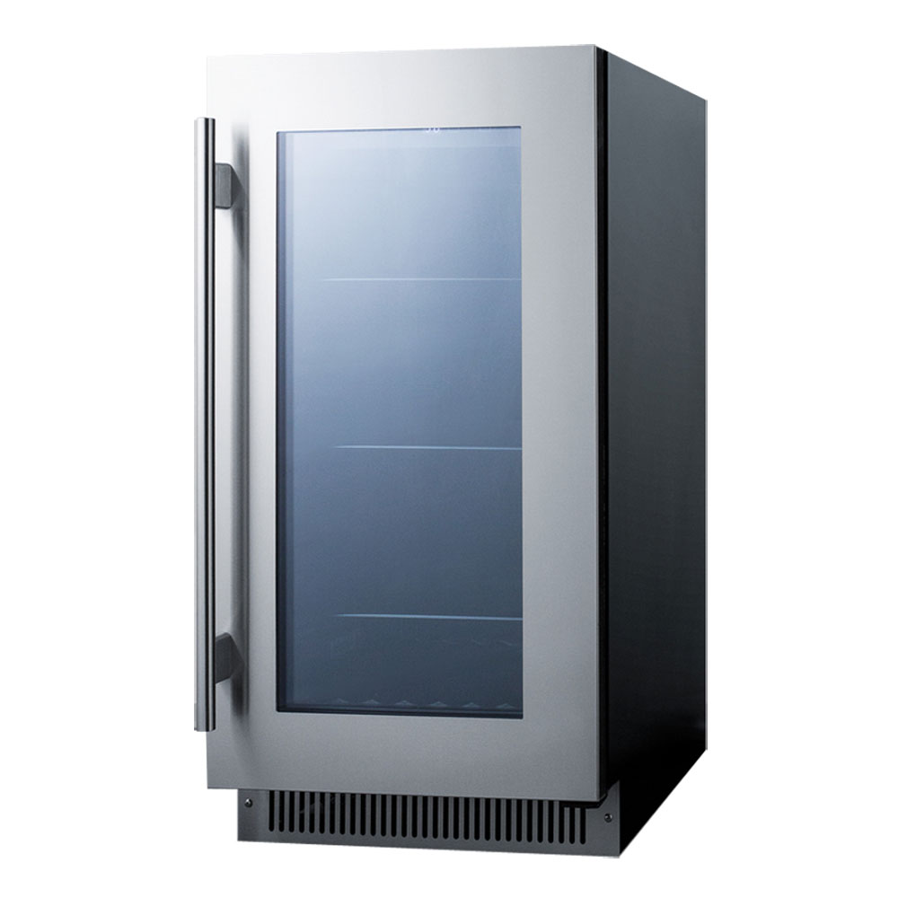 Summit CL181WBV Beverage Refrigerator - Black/Stainless Steel ...