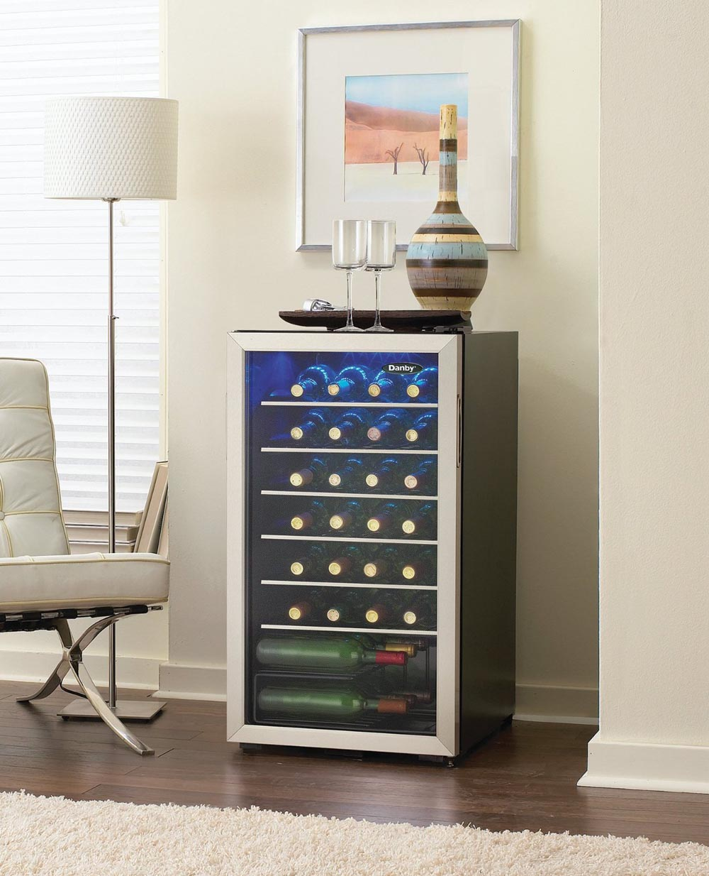 Danby Dwc93blsdb 36 Bottle Wine Cooler Freestanding Wine