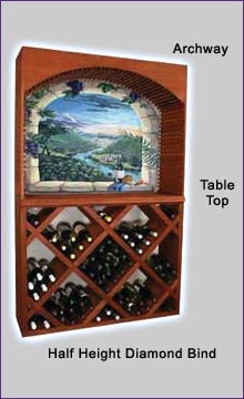 Photo of Designer Series Diamond Bin Archway Wine Rack