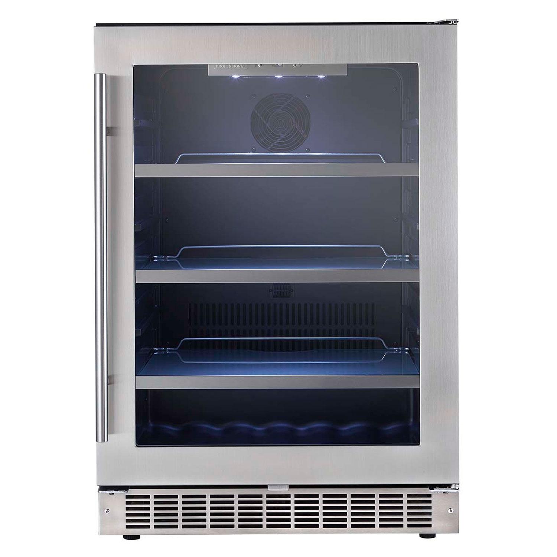 Undercounter Beverage Refrigerator Glass Door Built In Undercounter Beverage Centers Beveragefactorycom