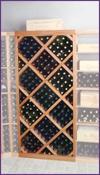 Photo of Designer Series Diamond Bin Wine Rack