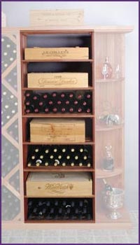 Photo of Designer Series Rectangular Bin & Case Wine Rack