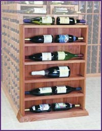 Photo of Designer Mahogany Vertical Display Wine Racks