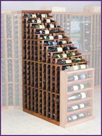Photo of Designer Mahogany Waterfall 270 Bottle Wine Racks