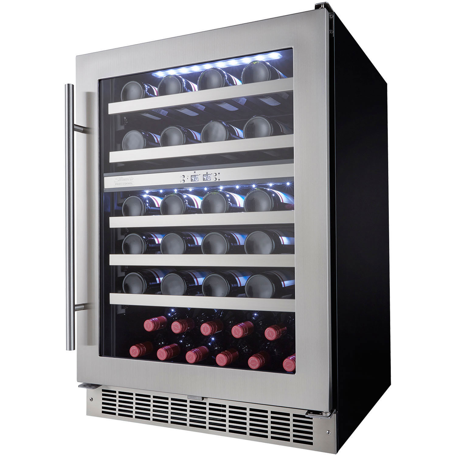 allavino wine door center refrigeration w cooler dual flexcount refrigerator cabinet ao vswb beverage series zone refrigerated and