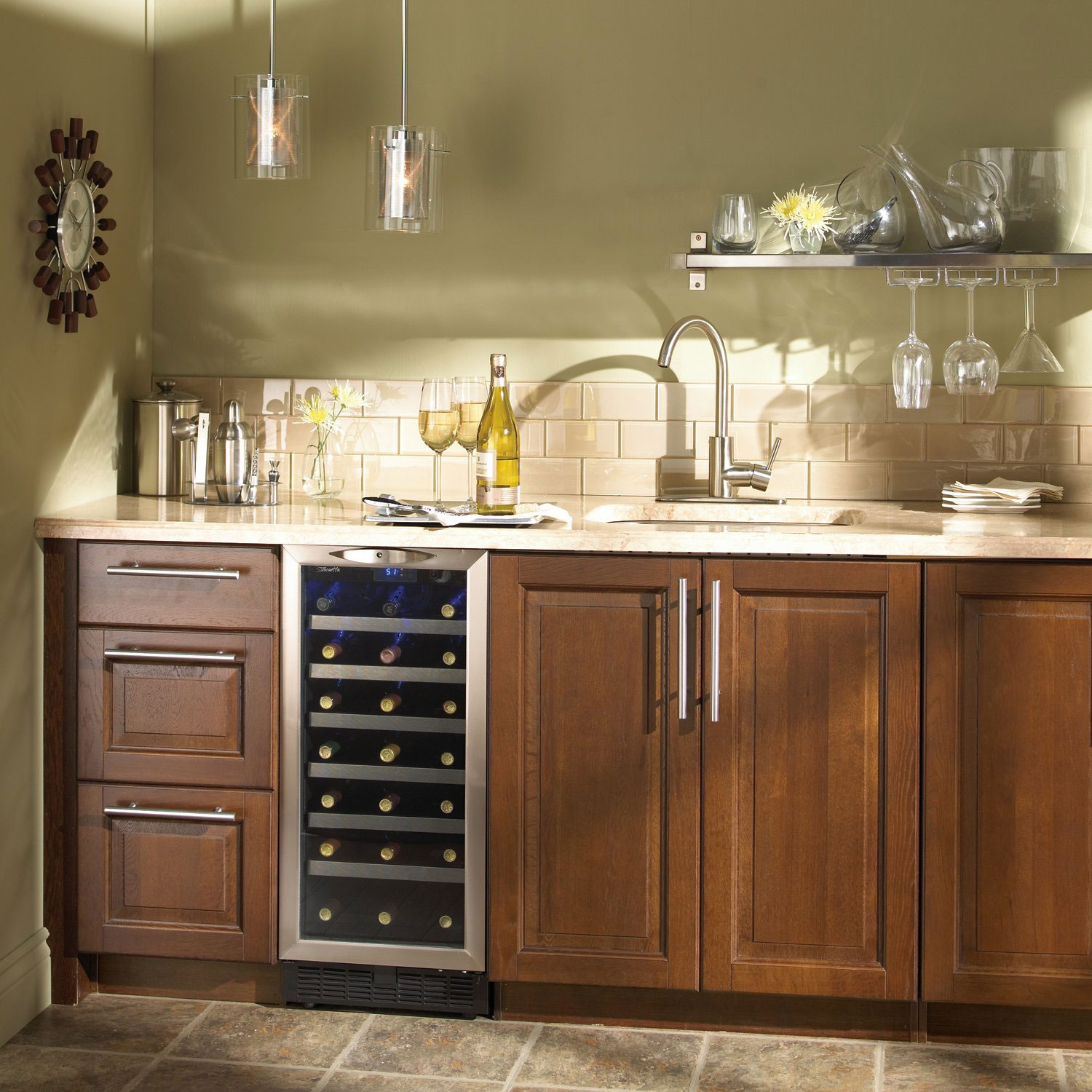 countertop refrigeration countertops fireside modern kitchens wine refrigerator outdoor and