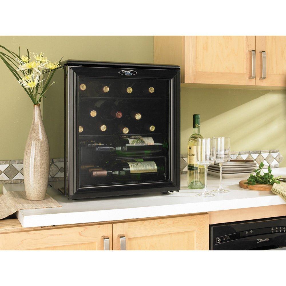 Danby DWC172BL 17 Bottle Wine Cooler Refrigerator ...