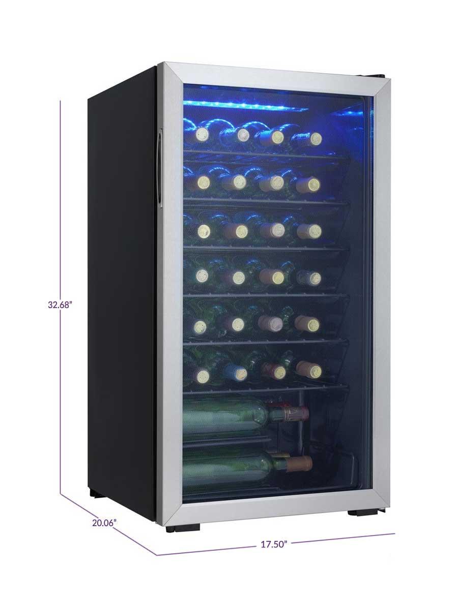 danby dwc93blsdb 36 bottle wine cooler freestanding wine. Black Bedroom Furniture Sets. Home Design Ideas