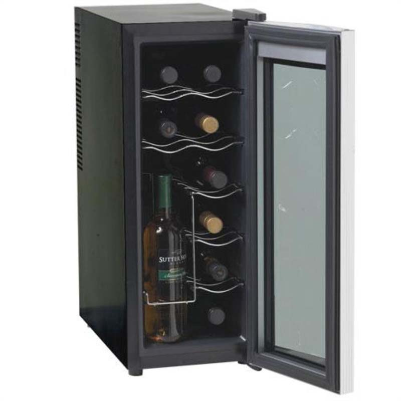 12 Bottle Wine Fridge Part - 20: Avanti EWC1201 Wine Cooler Open