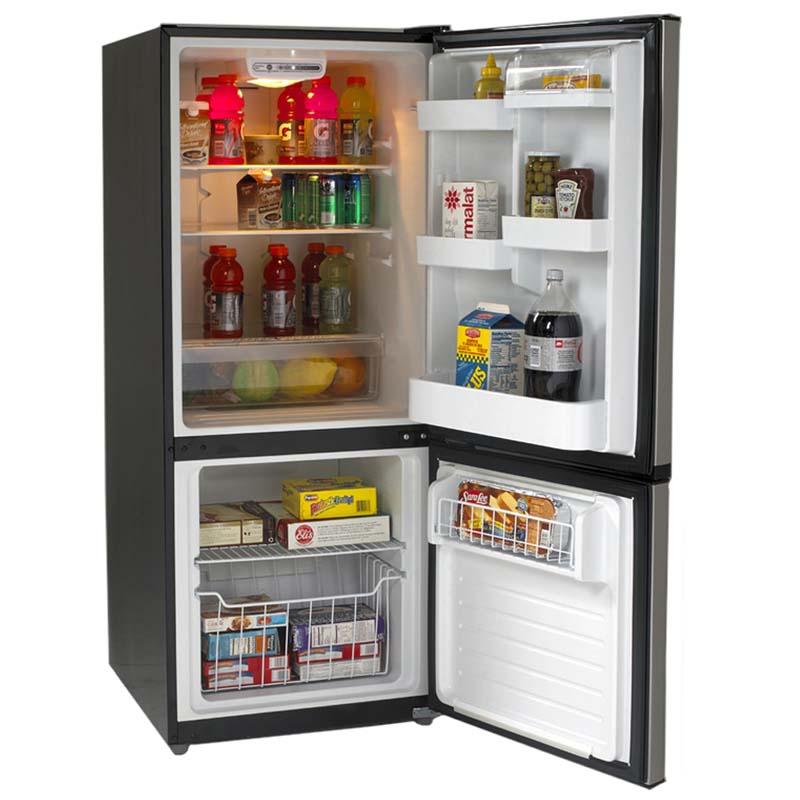 Avanti Cu Ft Two Door Frost Free Refrigerator Black