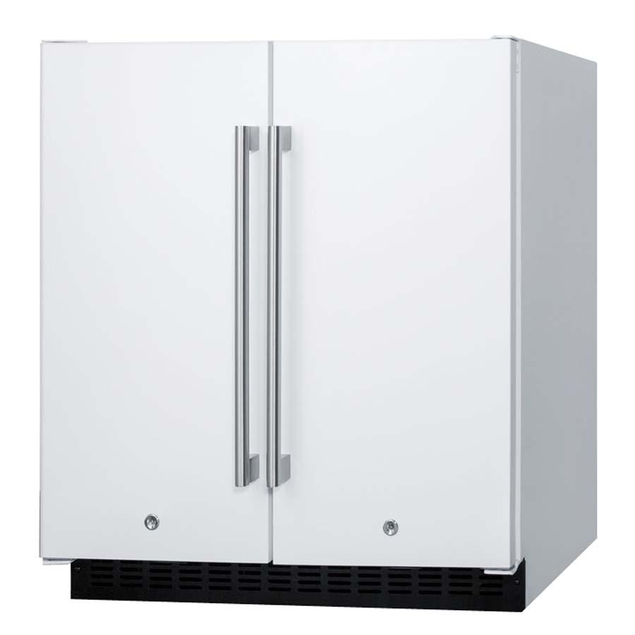 Summit FFRF3075W Frost Free Side-by-Side Refrigerator-Freezer ...