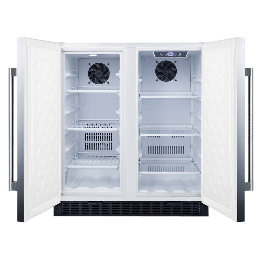 Luxury Refrigerators: Summit FFRF3075WCSS Stainless Steel Frost Free Side-by