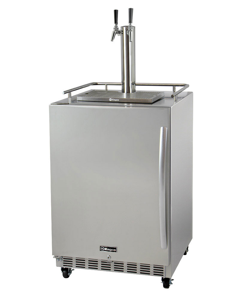 Commercial Outdoor Kitchen: Kegco HK38SSC-L-2 Two Tap Digital Commercial Outdoor Keg