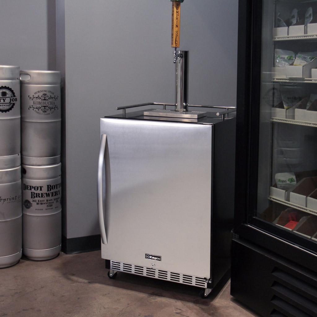 Commercial Refrigerators For Home Use Kegco Hk38bsc 1 Full Size Digital Commercial Under Counter Keg