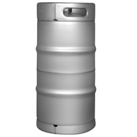 Brand New Slim 7.75 Gallon Commercial Kegs - Drop-In D System Sankey Valve