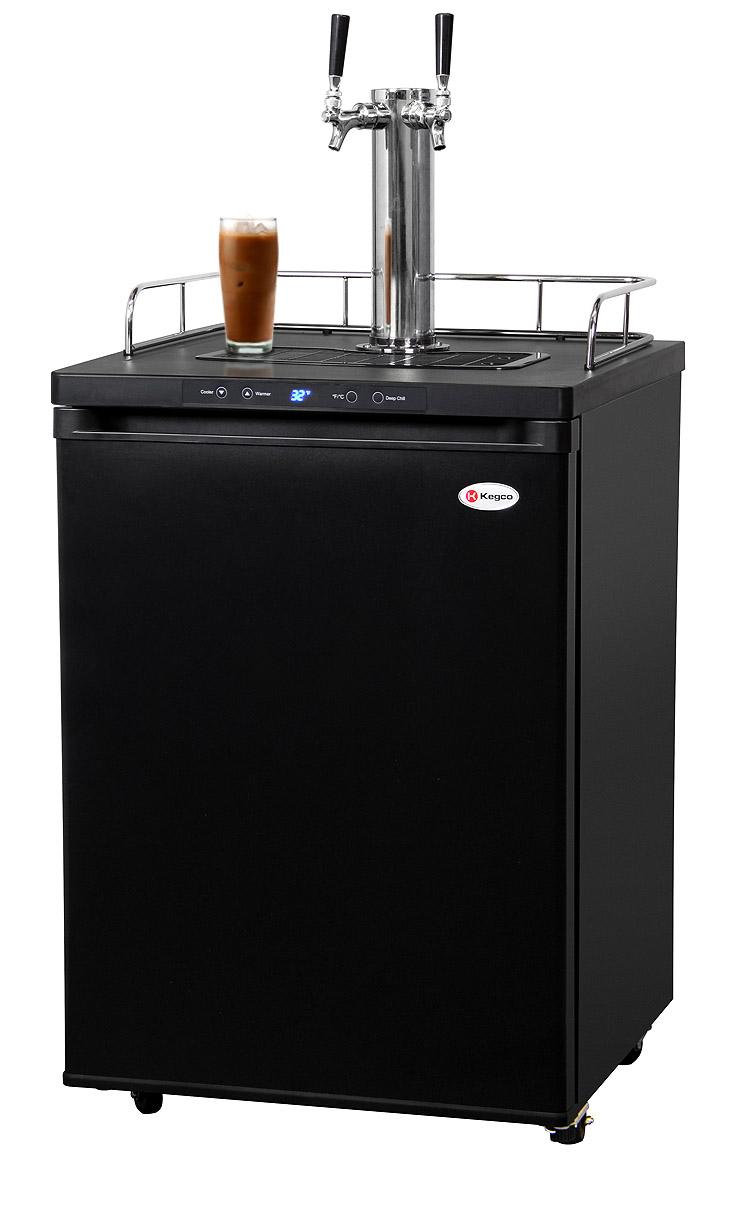 Kegco ICK30B-2 Dual Faucet Digital Javarator   Iced Coffee ...