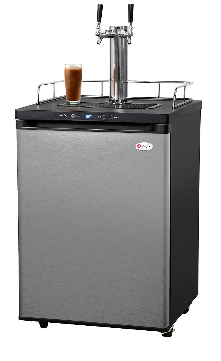 Kegco ICK30S-2 Dual Faucet Digital Javarator   Iced Coffee ...