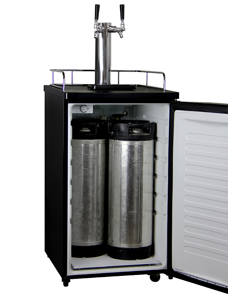 Kegco K199ss 2 Two Faucet Draft Beer Dispensers With Black