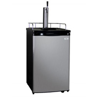 Inventory Reduction - Full Size Kegerator with Black Cabinet and Stainless Steel Door