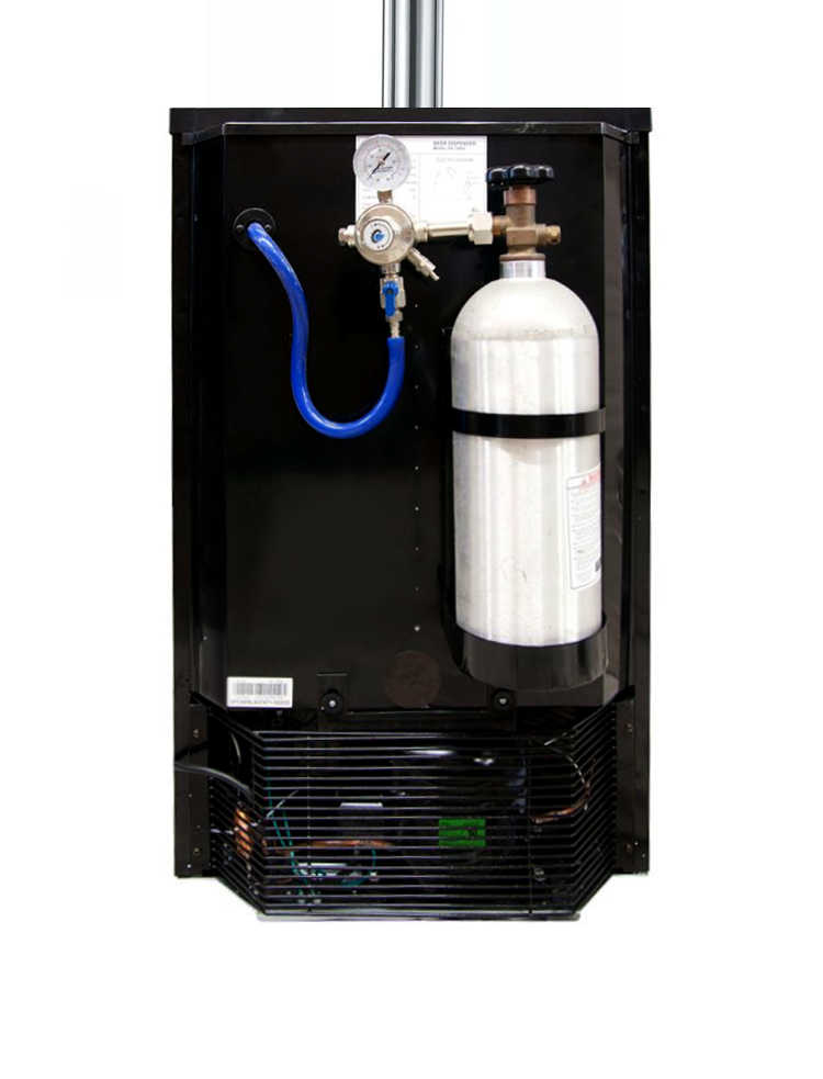 Kegco K199SS-2 Two Faucet Draft Beer Dispensers with Black Cabinet ...