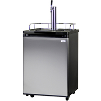 Full Size Kegerator - Black Cabinet with Stainless Steel Door