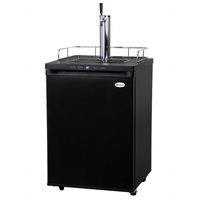 Kegco K309B-1 Digital Full-Size Beer Keg Dispenser - Black Cabinet with Matte Black Door