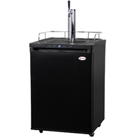Digital Full-Size Beer Keg Dispenser - Black Cabinet with Matte Black Door